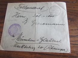 14-18: Feldpostbrief Oblitérée LIMBURG-DOLHAIN (à Pont) En 1917. Cachet: KAISERLICH-DEUTSCHES POSTAMT Idem - Andere Brieven