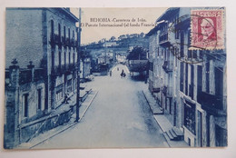 BEHOBIA - Carretera De Irun. El Puente Internacional (al Fondo Francia) - CPA Bleutée - Otros