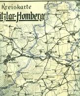 """Topographie Landkarte 1940 Deko 1:100.000 Kreiskarte """" Fritzlar - Homberg """" Hessen - Topographische Karten"""