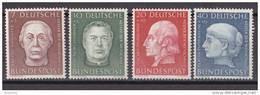 Men_ Bund 1954 - Mi.Nr. 200 - 203 - Postfrisch MNH - BRD