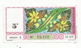 JC , Billet De Loterie Nationale,  5 E, Groupe 4, 5 E Tranche Hebdomadaire Spéciale 1960 , 26 NF - Lottery Tickets