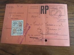 CARTE RECEPISSE Avec Taxe Payée En Numéraire Oblitérée BOIS D'HAINE-LA CROYERE CARTES-RECEPISSES En 1955 (rare!) - Otros