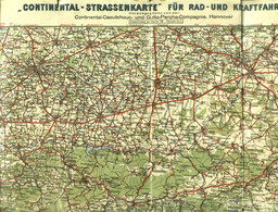 """Topographie Landkarte 1928 Deko 1:300.000 Continental Karte F. Rad- Und Kraftfahrer #26 """" Dortmund + Sauerland """" - Topographische Karten"""