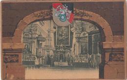 Gruss Aus Warnsdorf , Varnsdorf. Eglise. Kirche. Tchéquie Alte Postkarte. CPA Rare. Selten. Pub Kafffée Fiala Wien - República Checa
