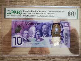 "2017 Canada Bank Of Canada ""Commemorative"" BC-75 10 Dollars PMG 66 EPQ Gem UNC - Canada"