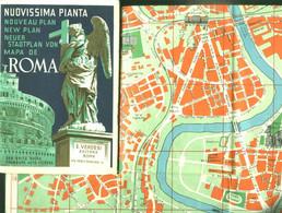 "Topographie Landkarte 1950 Deko 1:12.000 Italia Rom "" Nuovissima Pianta Roma "" Editore Verdesi Italien - Topographische Karten"