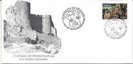 CHATEAU CATHARE: PORTRAITS DE REGIONS LA FRANCE A VOIR - 1er JOUR DUILHAC-SOUS-PEYREPERTUSE (AUDE) 19/9/2004 - Commemorative Postmarks