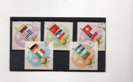 EDY978 - UNGHERIA 1962 , Cinque Valori Usati CALCIO MONDIALI - 1962 – Chili