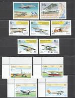 C631 1995,1996 SOUTH AFRICA LAO CUBA TRANSPORT AVIATION 3SET MNH - Vliegtuigen