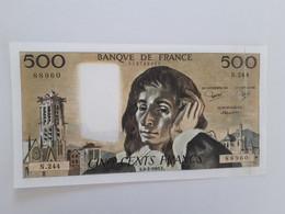 500 Fr Pascal Du 6/2/1986 - 500 F 1968-1993 ''Pascal''