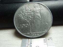100 Lires Grand Module - Italie - Italiana. 1956 - 1946-… : República