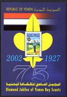 Yemen 2002 Boy Scouts Souvenir Sheet Unmounted Mint. - Yemen