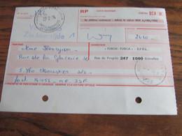 RECEPISSE De VERSEMENT Oblitérée SCHAERBEEK  2 CARTES-RECEPISSES (bilingue) En 1976.(rare!) (2 Trous D'archives) - Otros