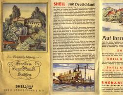 "Topographie Landkarte 1939 Deko 1:470.000 Shell Autokarte "" Franken Bay.Ostmark Sachsen Fränkische Schweiz "" - Topographische Karten"
