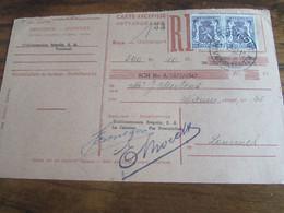 CARTE RECEPISSE Affranchie à 1,80frs Oblitérée TURNHOUT ONTVANGKAARTEN En 1948 (cachet Très Rare Oblitérant!) - Otros