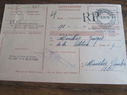 CARTE RECEPISSE Avec Taxe Payée En Numéraire Oblitérée ST JOSSE-TEN-NOODE CARTES-RECEPISSES (bilingue) En 1946.(rare!) - Otros
