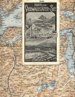 """Topographie Landkarte 1910 (!!!) Deko Schweiz Suisse """" Karte Vom Vierwaldstätter See + Fahrplan Dampfer Schiller Pp """" - Topographische Karten"""