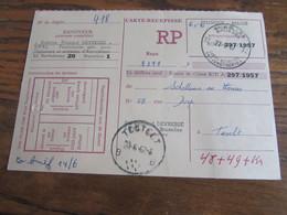 CARTE RECEPISSE Avec Taxe Payée En Numéraire Oblitérée BRUXELLES 32 CARTES-RECEPISSES (bilingue) En 1967.(rare!) - Otros