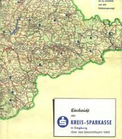 """Topographie Landkarte 1970 Deko Kreiskarte """" Siegburg + Rhein-Sieg-Kreis Bonn """" Verlag: KSK Siegburg - Topographische Karten"""
