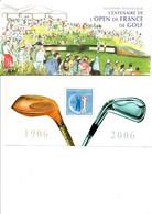 FRANCE BLOCS SOUVENIRS N°13  OPEN DE FRANCE DE GOLF Avec Pochette (CL72) - Souvenir Blocks & Sheetlets