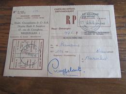 CARTE RECEPISSE Avec Taxe Payée En Numéraire Oblitérée BRUXELLES 31 CARTES-RECEPISSES (bilingue) En 1968.(rare!) - Otros