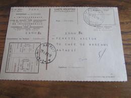 CARTE RECEPISSE Avec Taxe Payée En Numéraire Oblitérée BRUXELLES 24 CARTES-RECEPISSES (bilingue) En 1961.(rare!) - Otros