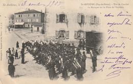 63 SAINT ANTHEME  Tir De Combat. La Musique Sur La Place De L'aubepin - Otros Municipios