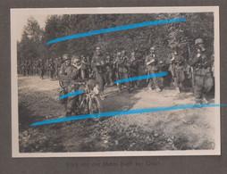 WW2 II. Gebirgsjäger Art. Rgt. 79 Motard Allemand KRAD Et Soldats Masque à Gaz P. REVIN HASTIERES Ardennes Anseremme - 1939-45