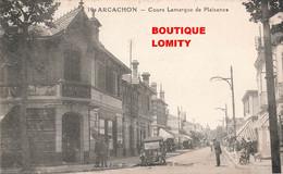 33 Arcachon Cours Lamarque De Plaisance Vieille Voiture Auto Magasin D' Alimentation Felix Potin Cachet 1928 - Arcachon