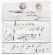 Lettre Locale D'ANGERS P/ ANGERS 1828 Inscription Manus. Trouvé à La Boite En Cet état Verso Essai Cachet Arrivé ANGER - 1801-1848: Precursors XIX