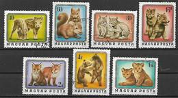 UNGHERIA 1976 ANIMALI YVERT. 2480-2486 USATA VF - Used Stamps