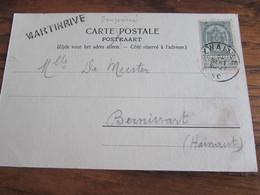Carte Vue De Stavelot Oblitérée Aywaille Et GRIFFE D'origine De MARTINRIVE (1903) - Otros