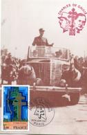 Thème Général De Gaulle - BT Paris Juin 1987 - CP Visite De Gaulle Grande-Synthe En Juillet 1945 - R 5978 - De Gaulle (Generaal)
