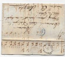 Lettre De Paris P/ ANGERS 1828 Verso Essai Cachet Arrivé ANGER 25 NOV. - 1801-1848: Precursori XIX