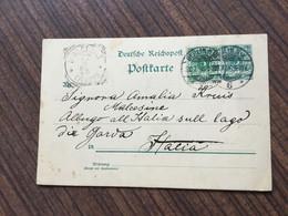 HE2447 Deutsches Reich Ganzsache Stationery Entier Postal P 32I Von Berlin Nach Malcesine Garda-See Italien - Stamped Stationery