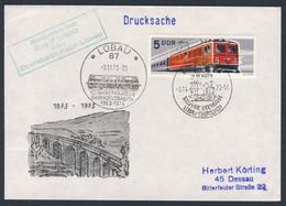 DDR Germany 1973 Brief Cover - 100 Jahre Bahnstrecke Ebersbach–Löbau 1873-1973 / Eisenbahn / Railway - Trains