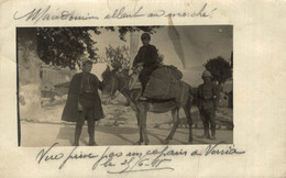 CARTE PHOTO DE VERRIA MACEDONIEN ALLANT AU MARCHE - Macedonia