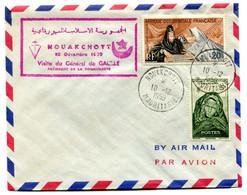 Thème Général De Gaulle - Cachet Commémoratif De La Visite En Mauritanie Le 10 Décembre 1959 - R 5985 - De Gaulle (General)