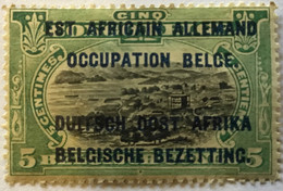 1922? Type Mols Neuf Yt:BE-CD 64?, Surcharge Est Africain Allemand + Occupation Belge + Duitch Oost Africa - Belgian Congo
