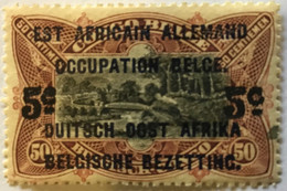 1922? Type Mols Neuf Yt:BE-CD 95? Surcharges Noires 5c Est Africain Allemand + Occupation Belge + Duitch Oost Africa - Belgian Congo