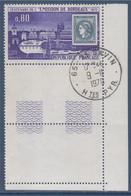 Centenaire De L'émission De Bordeaux N°1659 Oblitéré 65 Saint Savin 9.11.1970 Avec Bord De Feuille En Coin - Used Stamps