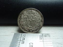 10 Cents Netherlands 1941 - Silver - Argent. Reine Wilhelmina - 10 Cent