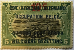 1922? Type Mols Neuf Yt:BE-CD 54? Surch. Rouge 50c Noires Est Africain Allemand + Occupation Belge + Duitch Oost Africa - Belgian Congo