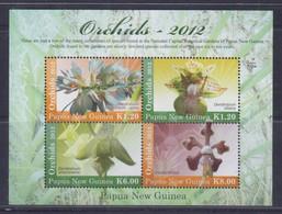 Papua New Guinea 2012 Orchids Sheetlet MNH - Papua New Guinea