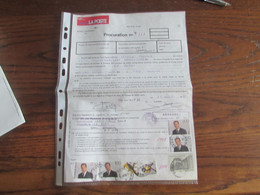 PROCURATION De 1996 à 1998 Oblitérée ASSESSE + Cachet De L'administration Communale Et TAXE Communale Idem - Other