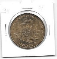 Médaille Touristique  2010, Ville, 150 Ans De L' Arrivée Du Chemin De Fer à Brive  ( 19 ) - Monnaie De Paris