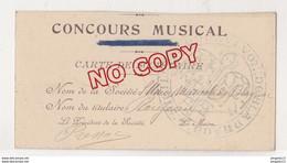 Au Plus Rapide Blagnac Carte Union Musicale Concours Musical Carte Sociétaire - Sonstige