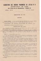 2 Documents Association Des Anciens Prisonniers De L'oflag VI A Rue De Provence Et 30 Place De La Madeleine Paris - Documentos Históricos