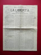 La Libertà Giornale N. 63 Modena 28/3/1869 Fischi Teatro Aliprandi Garibaldi - Livres, BD, Revues