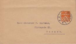 Denmark Uprated Postal Stationery Ganzsache Wrapper Streifband Bande Journal NYKØBING FL. 1941 ODENSE (2 Scans) - Interi Postali